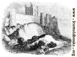 [picture: 383.---Rock of Bamborough with Castle.]