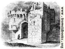 [picture: Beamaris Castle: entrance]