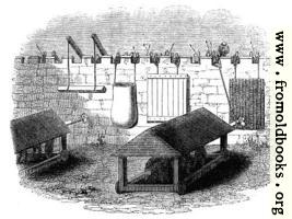 [picture: 868.---Machines used for the Defence of Stone Walls against the action of Battering rams.]