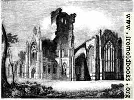 [picture: 1057.---South east View of Melrose Abbey]
