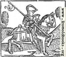 [picture: 1373.---Wood-cut of a Knight.  (From Caxton's `Game of the Chess')]