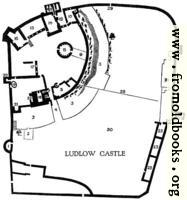 [Picture: Plan of Ludlow Castle]