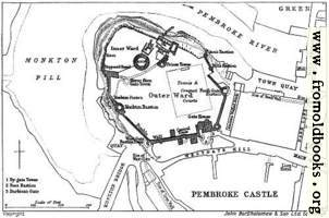 [Picture: Plan of Pembroke Castle]