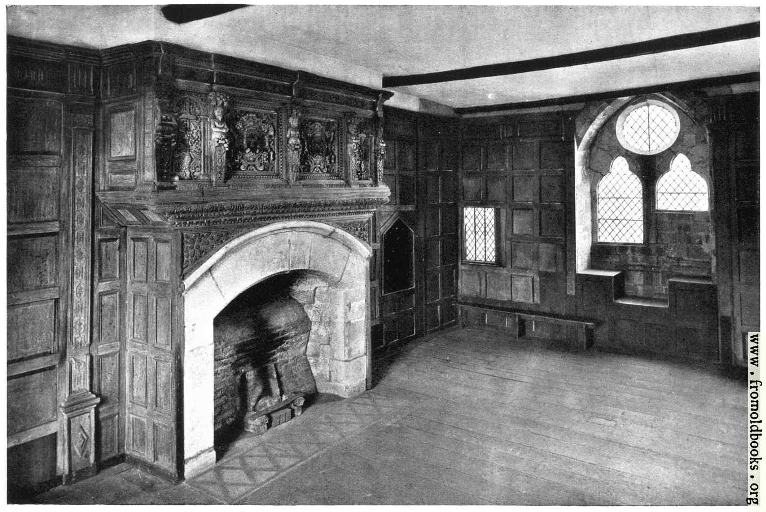 [Picture: Stokesay Castle: Interior: Solar Room]