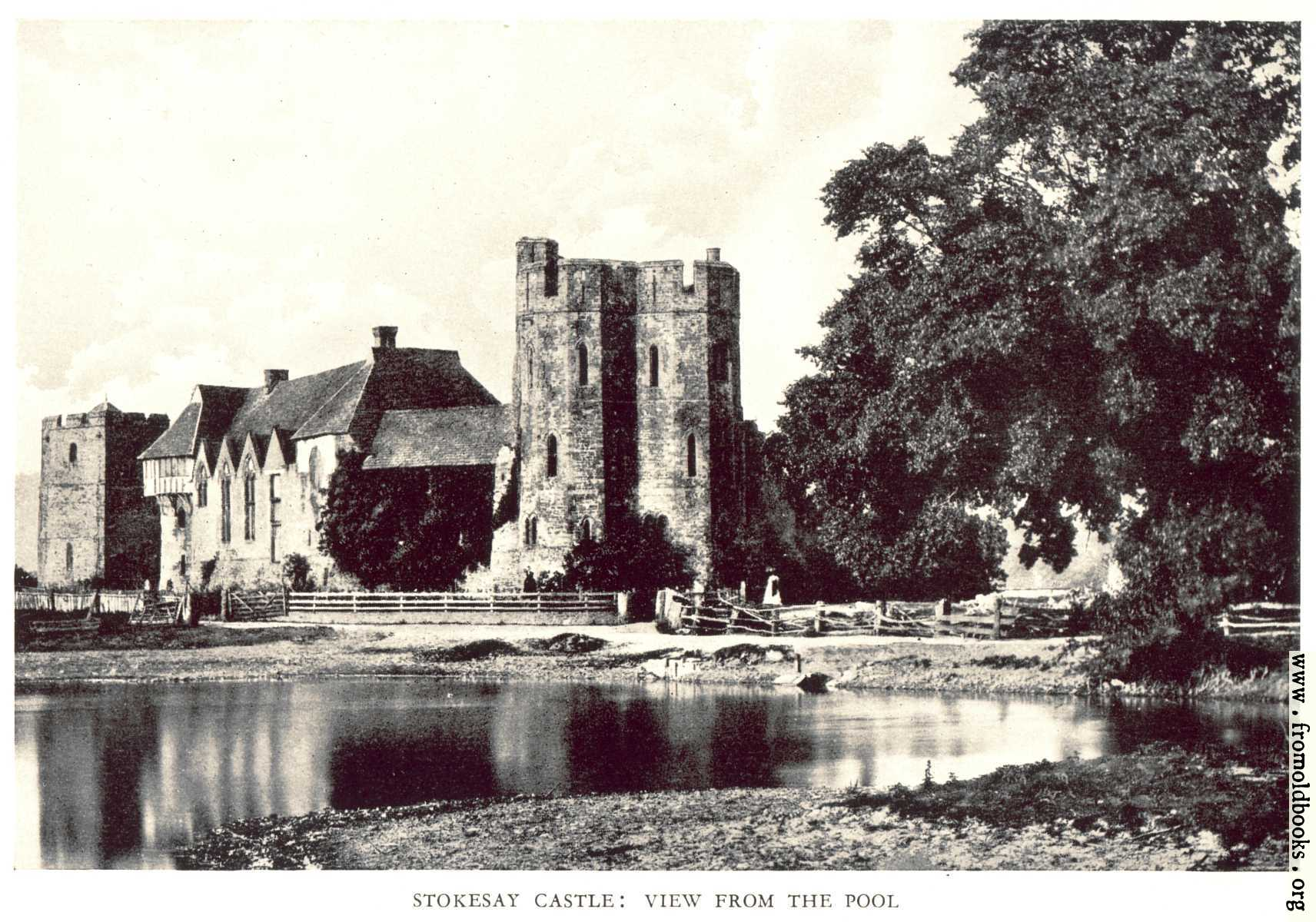 [Picture: Stokesay Castle: Exterior, from the lake]