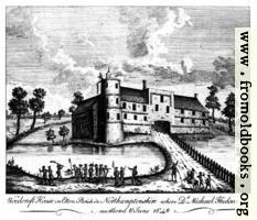 [picture: Woodcroft House in Etton Parish in Northamptonshire where Dr. Michael Hudson was murthered 6 June 1648]
