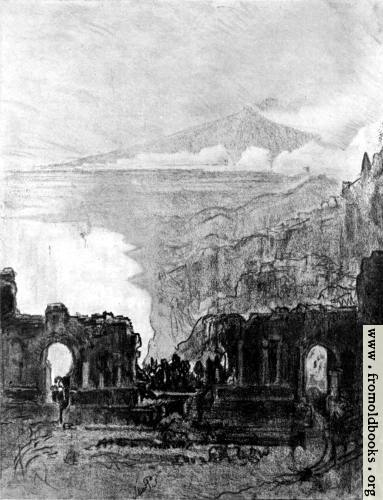 [Picture: I. Aetna over Taormina]