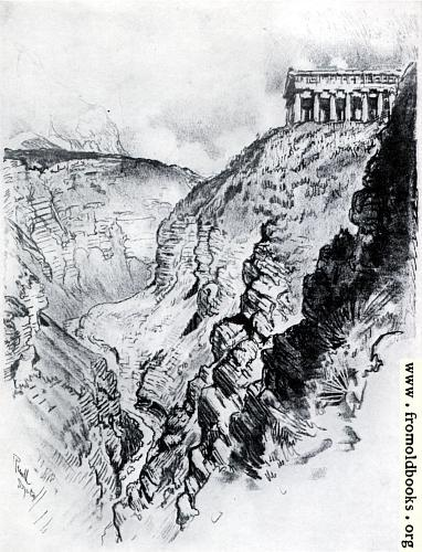 [Picture: III. The Temple Over the Canyon, Segesta]