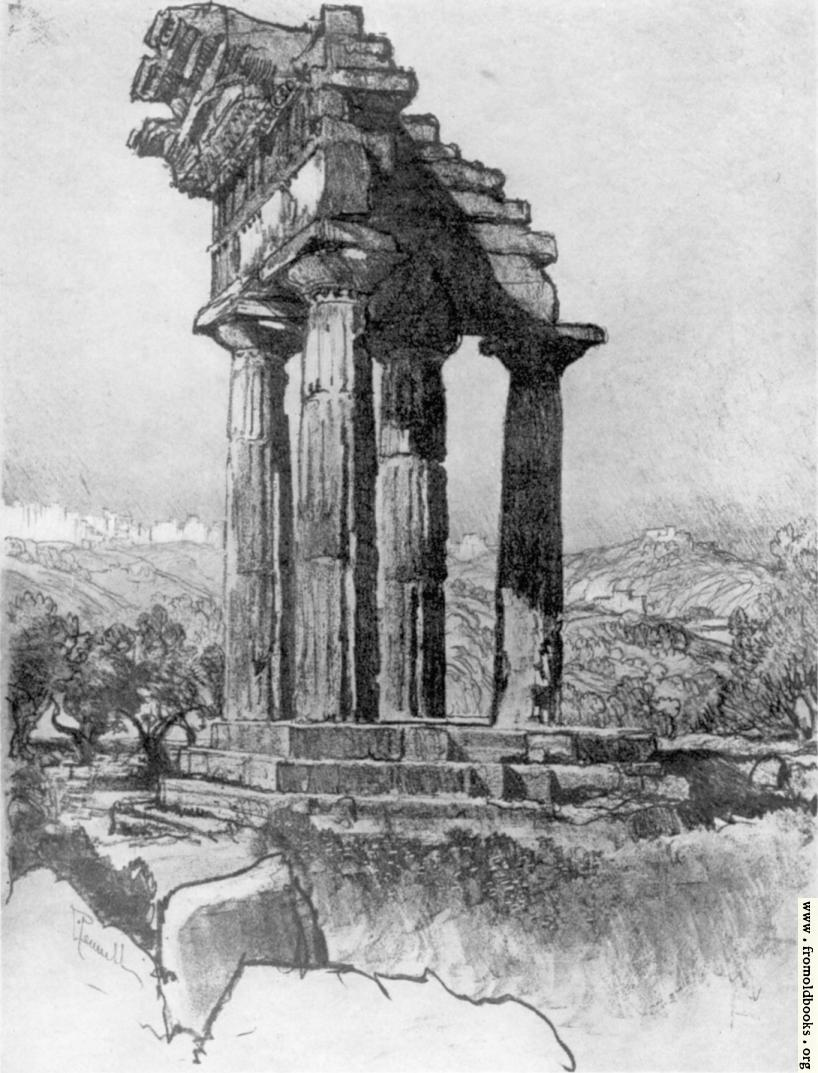 [Picture: V. The Columns of Castor and Pollux, Girgenti]