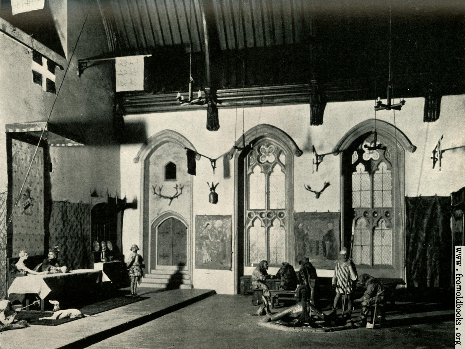 [Picture: Reconstructed Interior of Fourteenth-century Hall (Penshurst, Kent).]