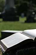 Open book with hint of tombs