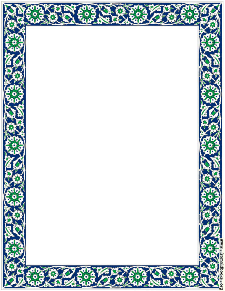 [Picture: Persion ceramic tile border: flowers and vines, bright version]
