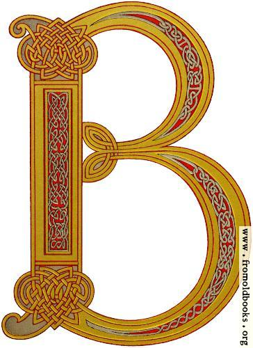 [Picture: Anglo-Saxon decorative initial B in the Celtic knotwork style]