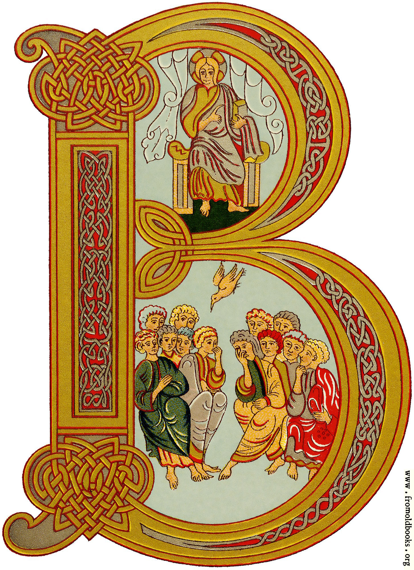 [Picture: Inhabited Initial letter B, Anglo-Saxon]