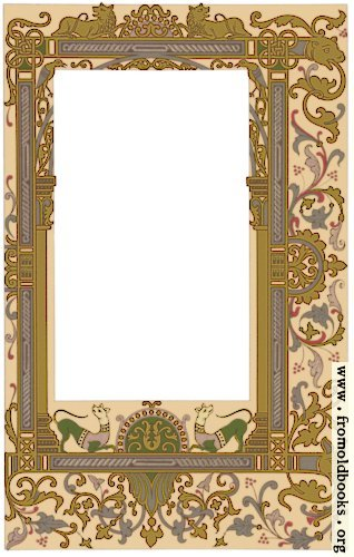 [Picture: Fig. 99 No. 7.—Ornate border, 9th century, Gallo-Frankish School.]
