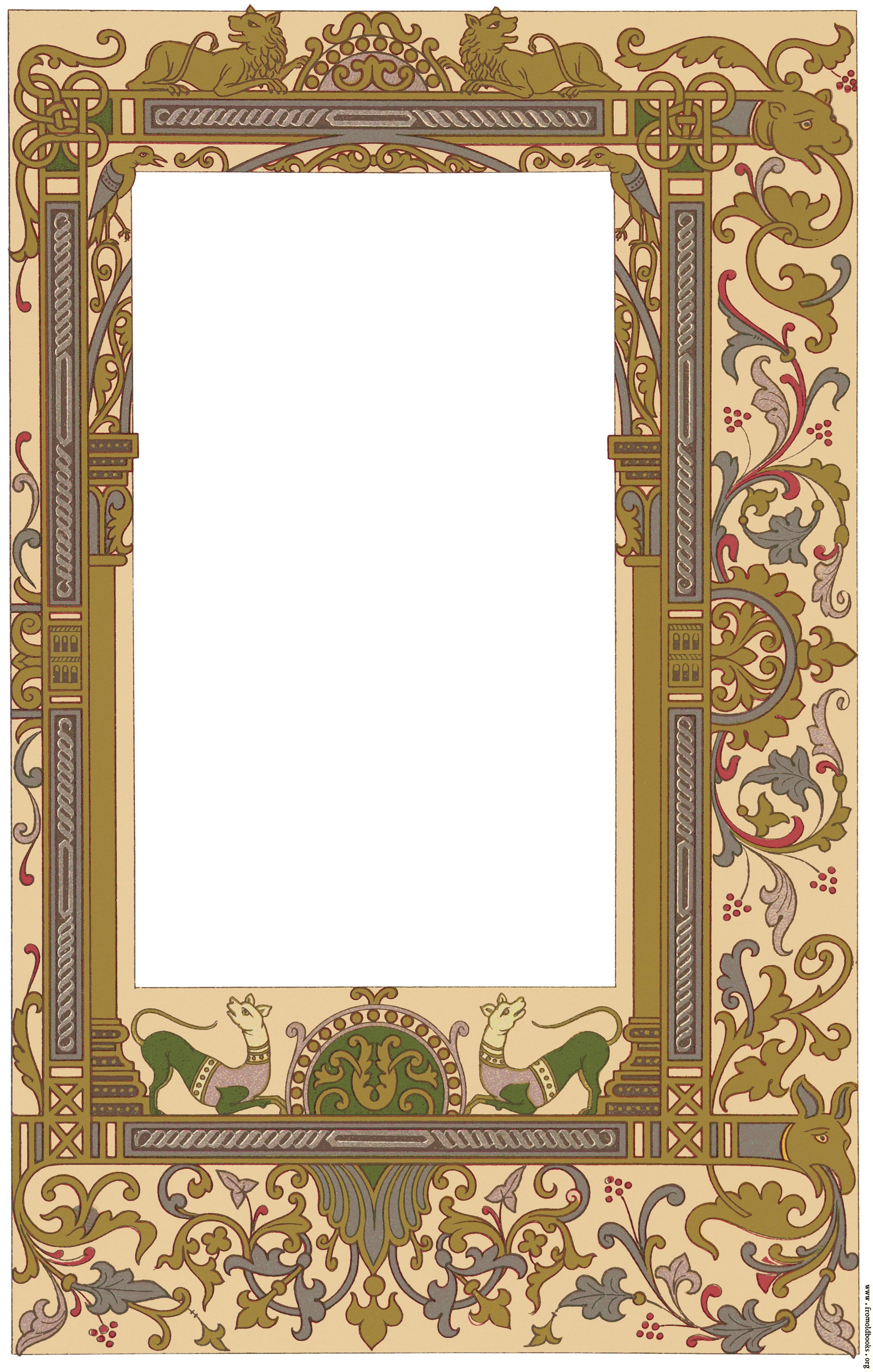 Fig. 99 No. 7.—Ornate border, 9th century, Gallo-Frankish ...