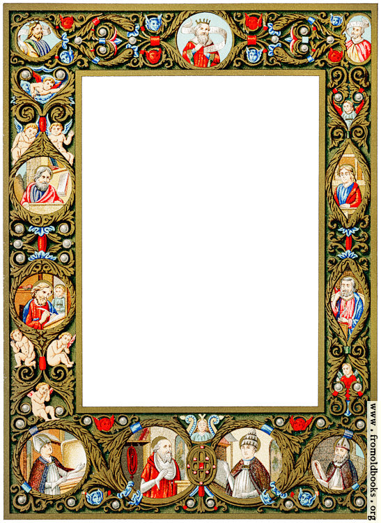 [Picture: Fifteenth Century Manuscript Border With Jewels]
