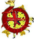 Celtic knotwork dragon ornament/initial