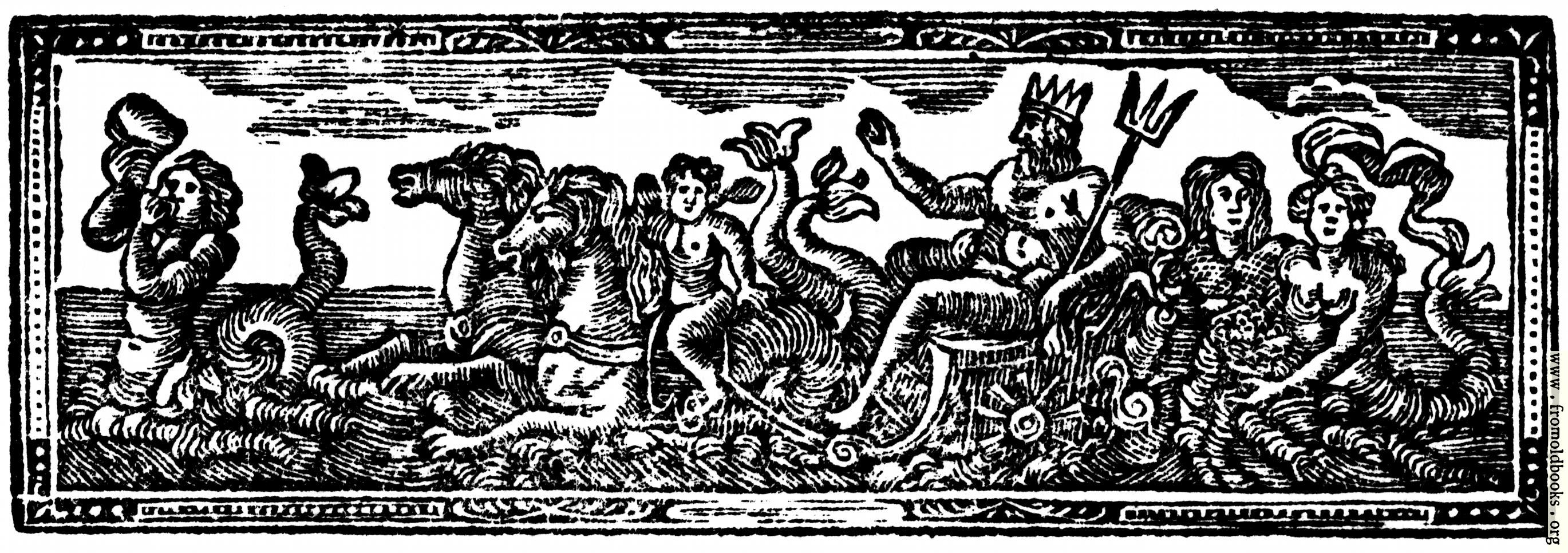 [Picture: Chapter Heading Woodcut featuring Neptune and Mermaids]