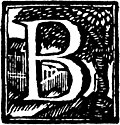 Initial letter B Woodcut