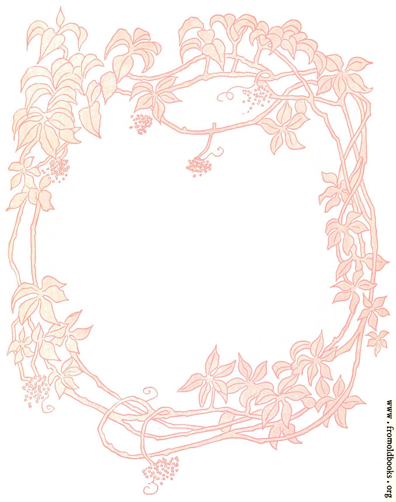 Pink Floriated Border