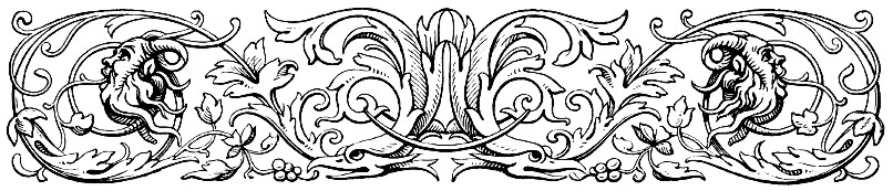 [Picture: Decorative chapter head with styilized birds and green men]