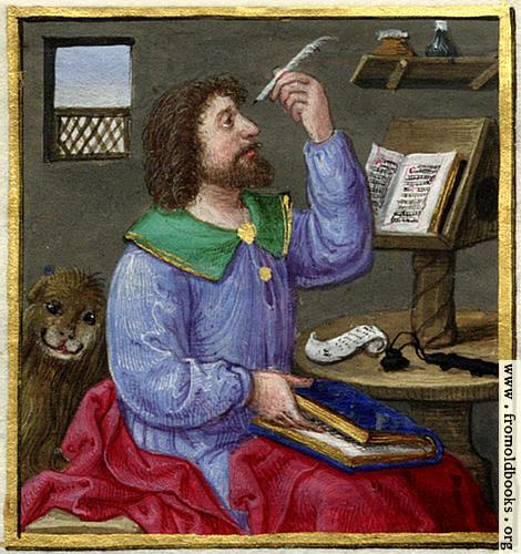 [Picture: Evangelist with lion]