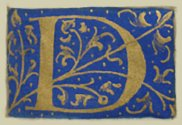 """[Picture: Letter """"D"""" from 16th century book of hours]"""