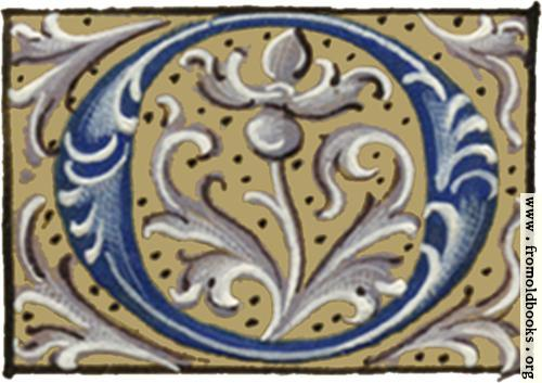"[Picture: Letter ""O"" from 16th century book of hours]"