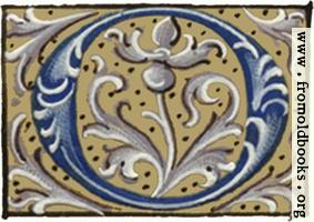 [picture: Letter ``O'' from 16th century book of hours]
