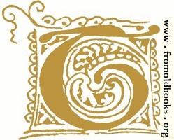 [Picture: Calligraphic initial leter T]