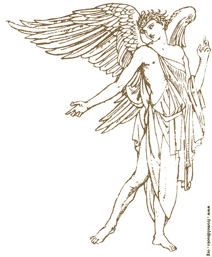[Picture: Isolated Angel Drawing]