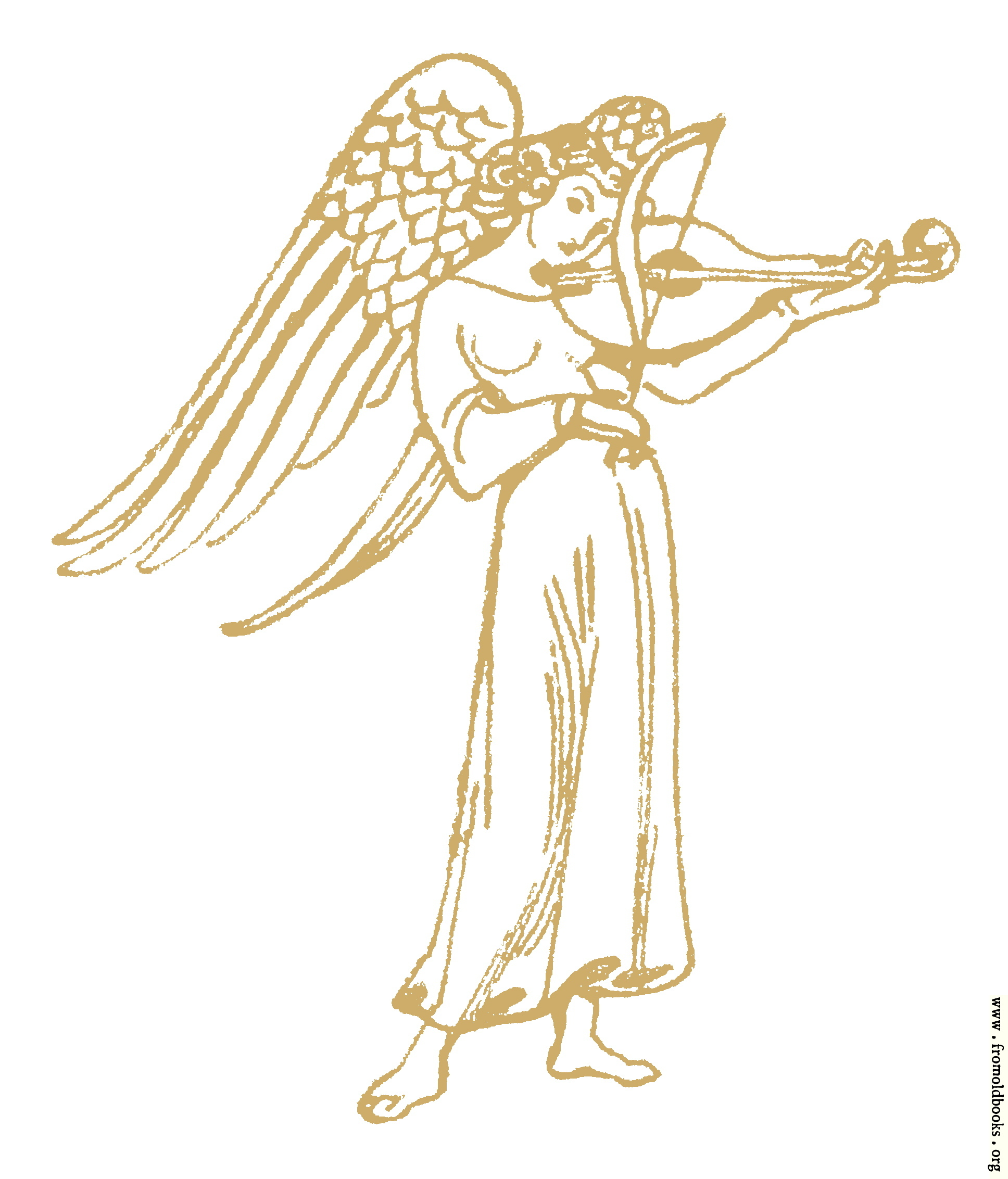 [Picture: angel with violin]