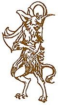 [picture: Border detail: Satyr or horned devil]