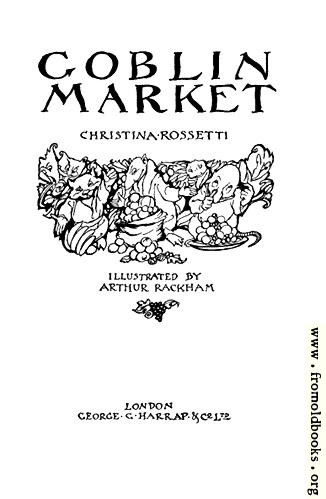 [Picture: Goblin Market Title Page]