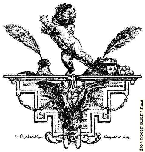 [Picture: Cul-de-lampe composé par Mariller, gravé par Marquet.]