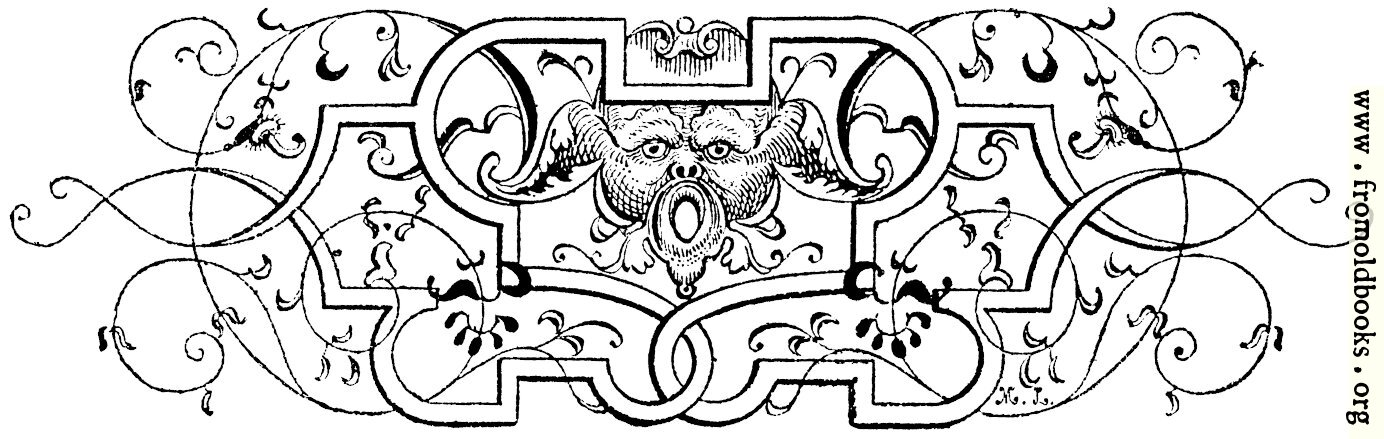 [Picture: Tailpiece with grotesque gargoyle figure]