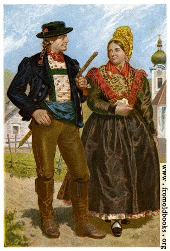 [Picture: Farmer and his Wife, Ybbstal Valley]