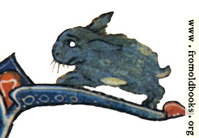 Drollery (margin-creature), Blue Rabbit
