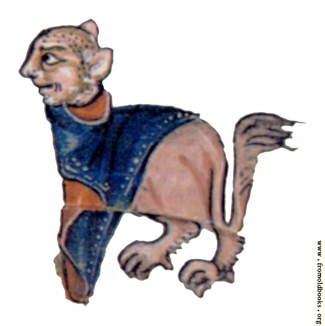 [Picture: Drollery (margin-creatre), Lion with Tabard]