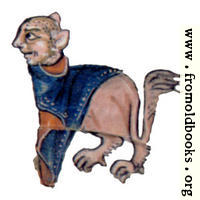 Drollery (margin-creatre), Lion with Tabard