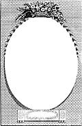 [picture: Cartouche or Oval Frame With Wreath and Bricks]
