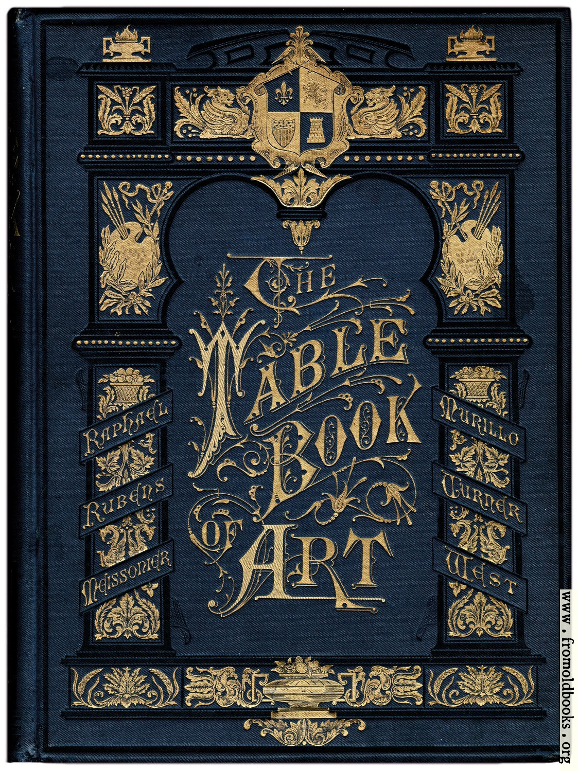 Old Book Front Cover ~ Front cover in blue and gold