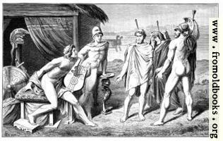 [Picture: Achilles und die Gesandten der Griechen]