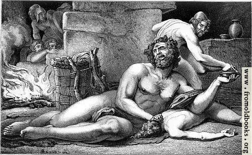 [Picture: Odysseus und Polyphem]