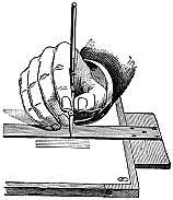 [Picture: 15.—Holding a Ruling Pen.]