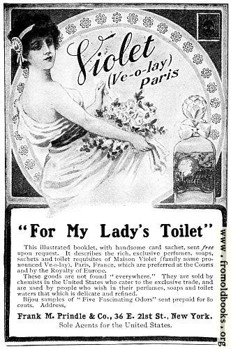 [Picture: Old Advert: For My Lady's Toilet]