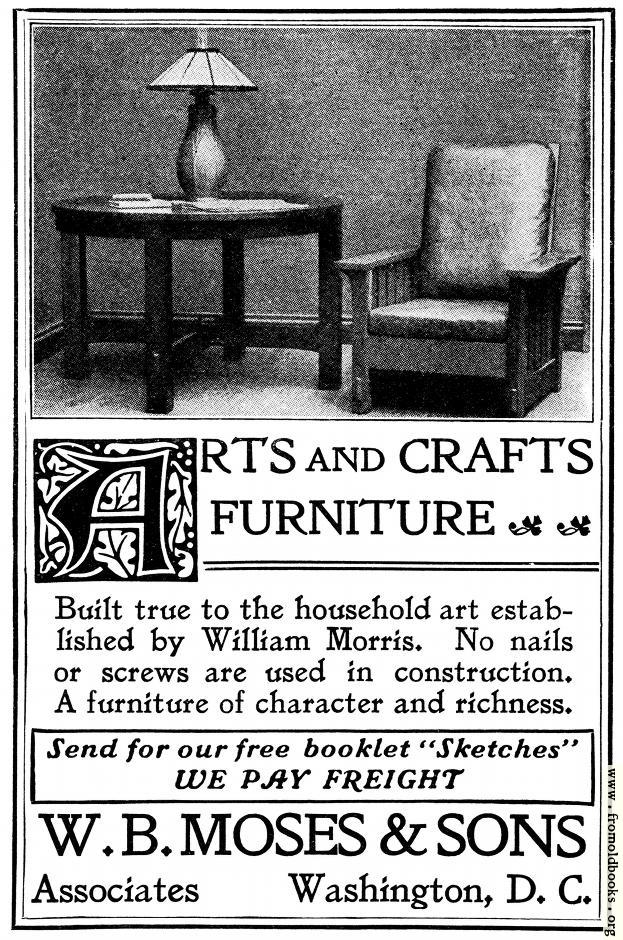 [Picture: Old Advert: Arts and Crafts Furniture]