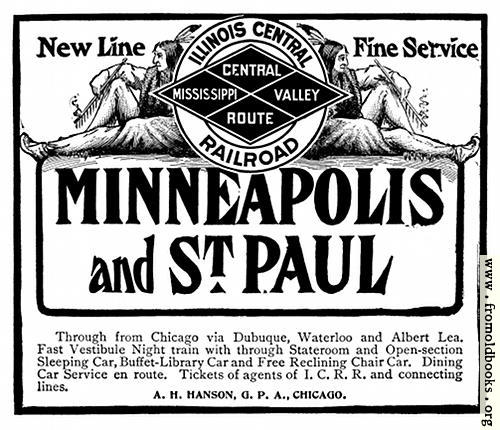 [Picture: Old Advert: Illinois Central Railroad]
