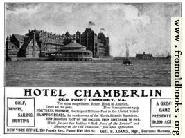 [picture: Old Advert: Hotel Chamberlin]